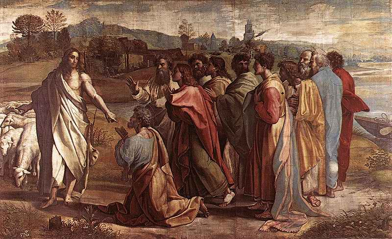 Raphael_Christs_Charge_to_Peter_1515