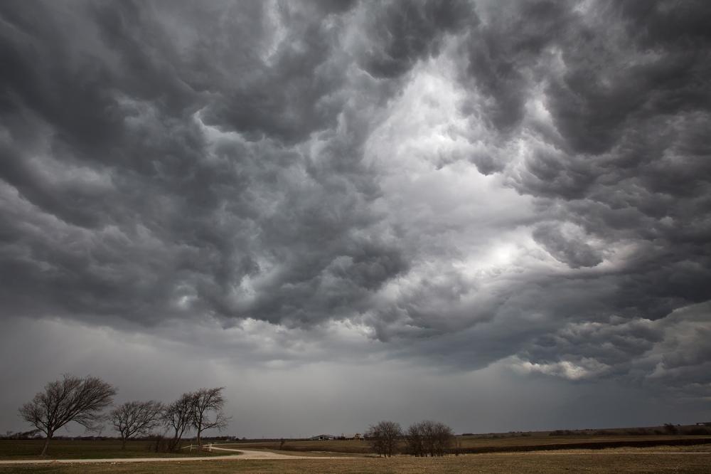 1-29-13-Storm Over Farm - Decatur, Texas